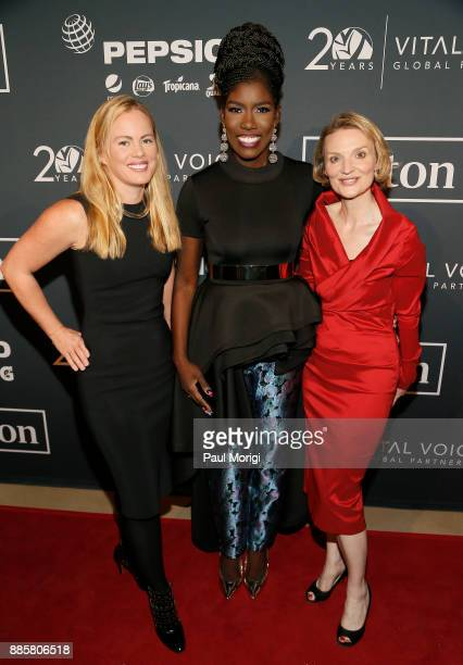 Elizabeth Buchanan Bozoma Saint John and President and CEO Vital Voices Global Partnership Alyse Nelson attend Vital Voices Global Partnership 2017...
