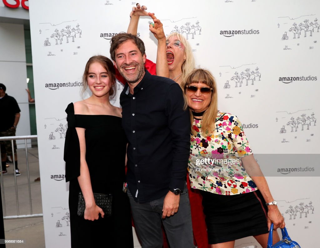 Elizabeth Budd, Mark Duplass, Kate Crash and Catherine Hardwicke attend Amazon Studios premiere of 'Don't Worry, He Wont Get Far On Foot' at ArcLight Hollywood on July 11, 2018 in Hollywood, California.