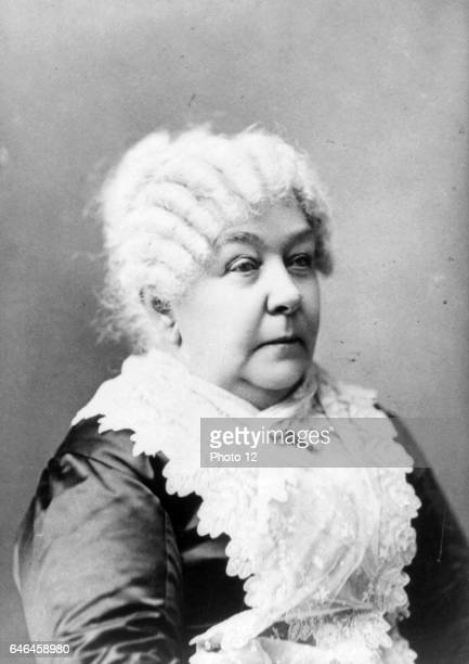 Elizabeth Cady Stanton portrait facing right From a daguerreotype