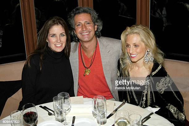 Elizabeth Callender Carlos Souza and Pia Getty attend VALENTINO Private Dinner at Sunset Towers on January 12 2007