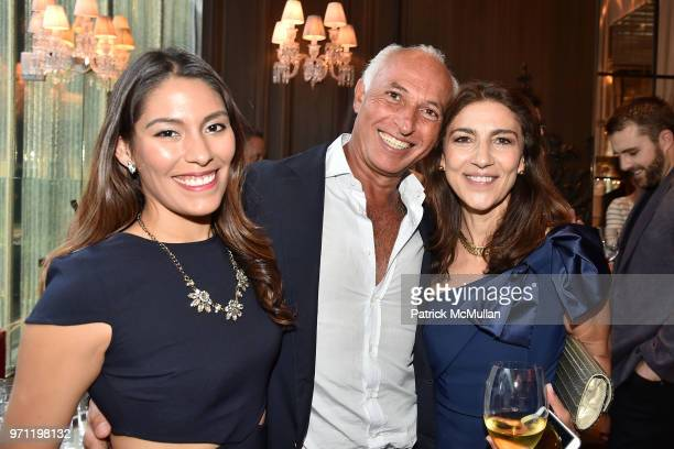 Elizabeth Calvo Albert Benalloul and Jo Bucciero attend Christopher R King Debuts New Luxury Brand CCCXXXIII at Baccarat Hotel on June 5 2018 in New...