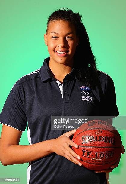 Elizabeth Cambage of Australia poses during the Australian Olympic Games team announcement at Knox Basketball Stadium on June 22 2012 in Melbourne...
