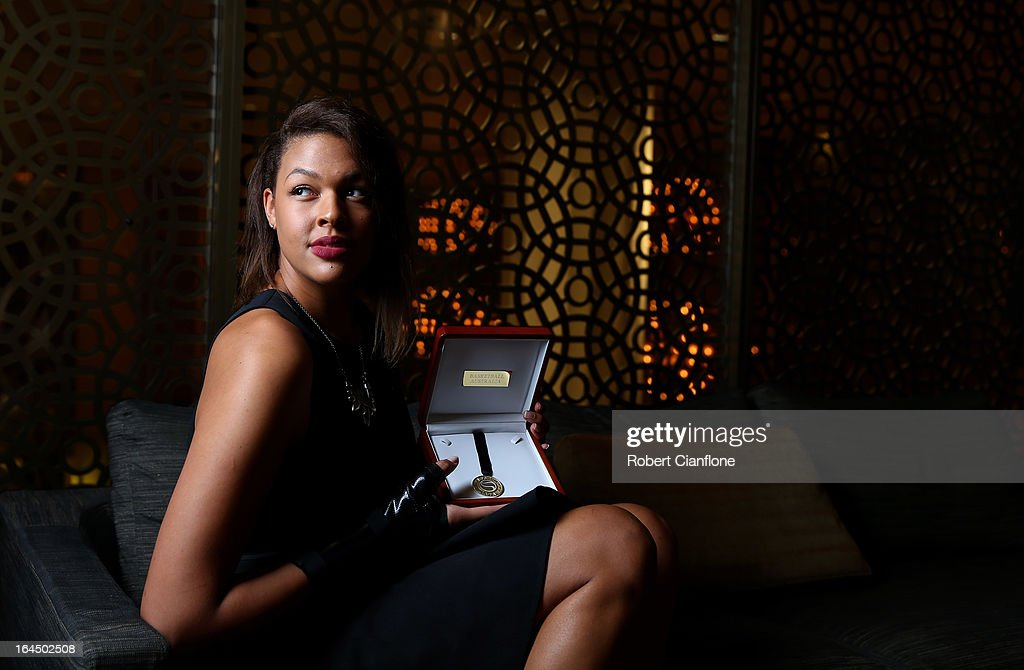 Elizabeth Cambage poses after winning the International Player of the Year at the 2013 Basketball Australia MVP Awards at Crown Palladium on March 24, 2013 in Melbourne, Australia.