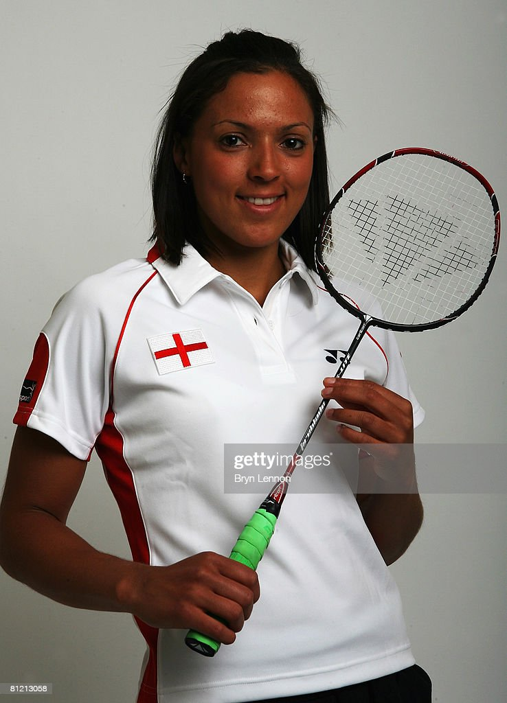 Elizabeth Cann poses for a photo prior to a training session at the National Badminton Centre on May 22, 2008 in Milton Keynes, England.