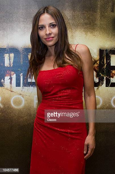 Elizabeth Cervantes attends to the presentation of Drenaje Profundo tv series on September 29 2010 in Mexico City Mexico