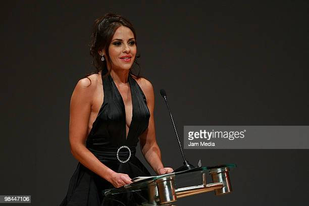 Elizabeth Cervantes during 52nd Ariel Awards 2010 at the Sala Nezahualcoyotl on April 13 2010 in Mexico City Mexico