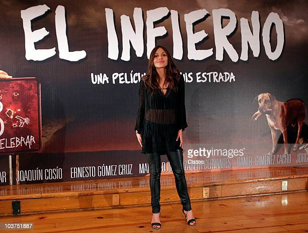 Elizabeth Cervantes during a press conference to present the movie El Infierno on August 31 2010 in Mexico City Mexico