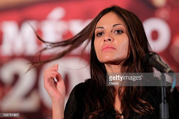 Elizabeth Cervantes during a press conference to present the movie El Infierno on August 31, 2010 in Mexico City, Mexico.