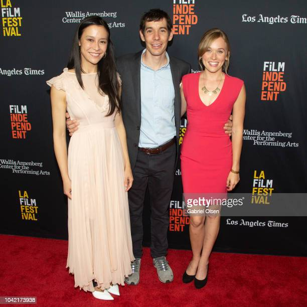 Elizabeth Chai Vasarhelyi Alex Honnold and Sanni McCandless arrive for the LA Film Festival gala screening of National Geographic Documentary Films...