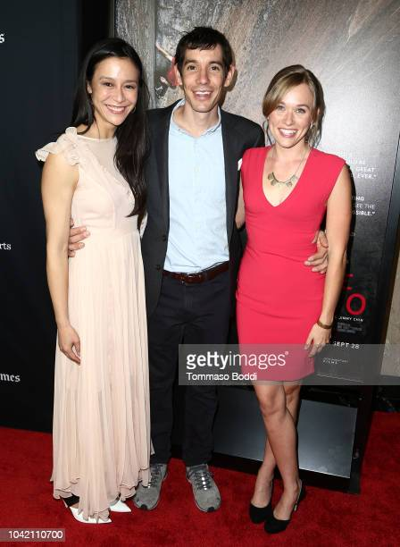 Elizabeth Chai Vasarhelyi Alex Honnold and Sanni McCandless attend the LA Film Festival gala screening of National Geographic Documentary Films Free...