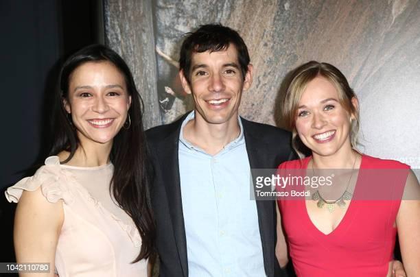 Elizabeth Chai Vasarhelyi Alex Honnold and Sanni McCandless attend the LA Film Festival gala screening of National Geographic Documentary Films Free...