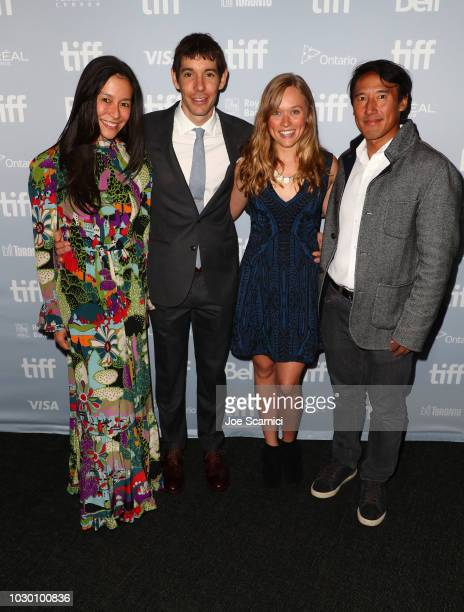 Elizabeth Chai Vasarhelyi Alex Honnold Sanni McCandless and Jimmy Chin at the 2018 Toronto Film Festival Premiere of National Geographic Documentary...