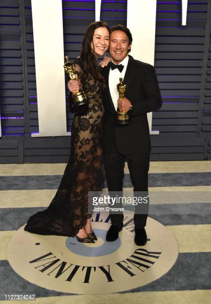 Elizabeth Chai Vasarhelyi and Jimmy Chin attend the 2019 Vanity Fair Oscar Party hosted by Radhika Jones at Wallis Annenberg Center for the...