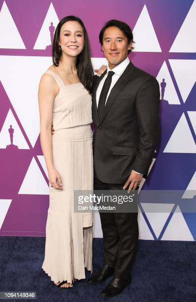 Elizabeth Chai Vasarhelyi and Jimmy Chin attend the 91st Oscars Nominees Luncheon at The Beverly Hilton Hotel on February 4 2019 in Beverly Hills...