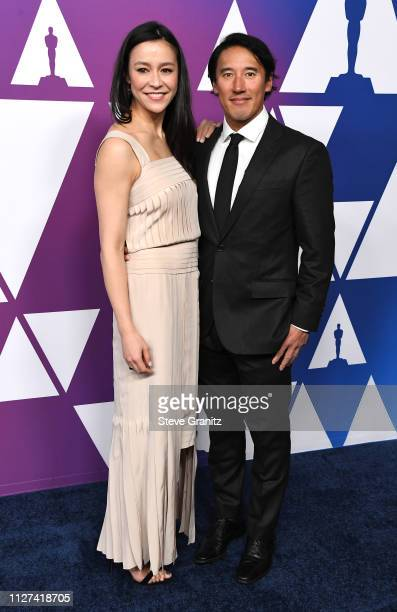 Elizabeth Chai Vasarhelyi and Jimmy Chin attend the 91st Oscars Nominees Luncheon at The Beverly Hilton Hotel on February 04 2019 in Beverly Hills...