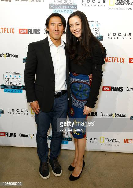 Elizabeth Chai Vasarhelyi and Jimmy Chin attends 3rd Annual Critics' Choice Documentary Awards at BRIC on November 10 2018 in New York City