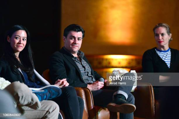 Elizabeth Chai Vasarhelyi Jed Rothstein and Alexis Bloom attend the Doc Roundtable during AFI FEST 2018 presented by Audi at Hollywood Roosevelt...