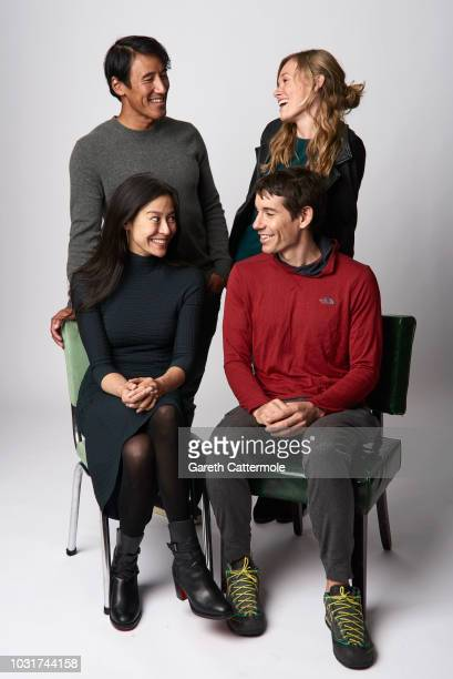 Elizabeth Chai Vasarhelyi Jimmy Chin Sanni McCandless and Alex Honnold from the film 'Free Solo' pose for a portrait during the 2018 Toronto...