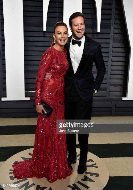 Elizabeth Chambers and actor Armie Hamme attend the 2017 Vanity Fair Oscar Party hosted by Graydon Carter at Wallis Annenberg Center for the...