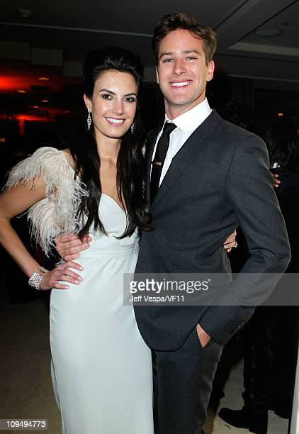 Elizabeth Chambers and Actor Armie Hammer attend the 2011 Vanity Fair Oscar Party Hosted by Graydon Carter at the Sunset Tower Hotel on February 27...