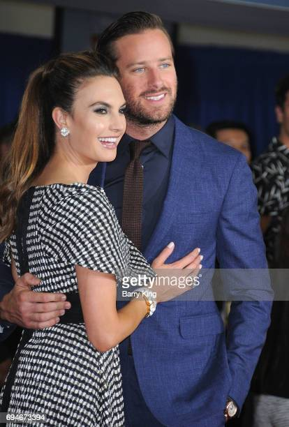 Elizabeth Chambers and actor Armie Hammer attend the World Premiere of Disney and Pixar's 'Cars 3' at Anaheim Convention Center on June 10 2017 in...