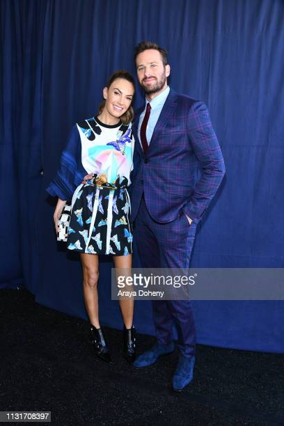 Elizabeth Chambers and Armie Hammer at the 2019 Film Independent Spirit Awards on February 23 2019 in Santa Monica California