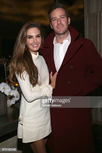 Elizabeth Chambers and Armie Hammer attend Calvin Klein and The Cinema Society host the after party for Sony Pictures Classics' 'Call Me By Your...