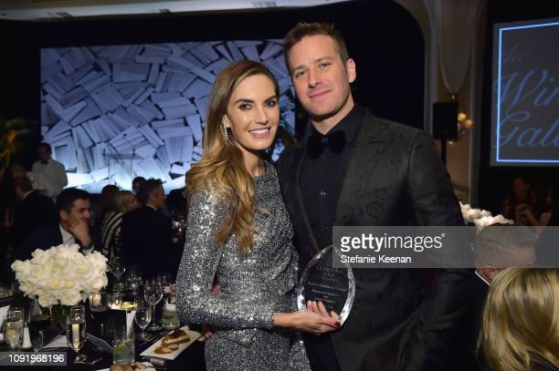 Elizabeth Chambers and Armie Hammer attend Learning Lab Ventures 2019 Gala Presented by Farfetch at Beverly Hills Hotel on January 31 2019 in Beverly...