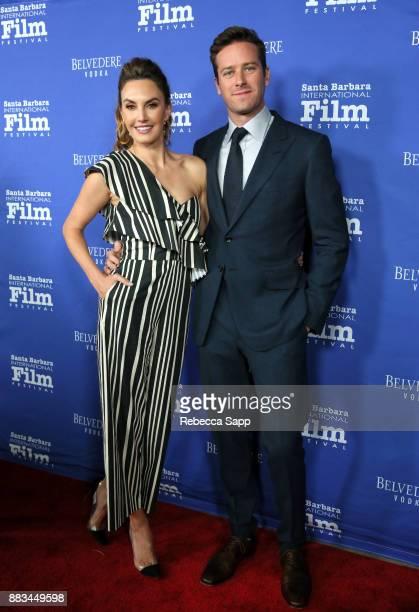 Elizabeth Chambers and Armie Hammer attend Santa Barbara International Film Festival Kirk Douglas Award of Excellence Dinner sponsored by Belvedere...