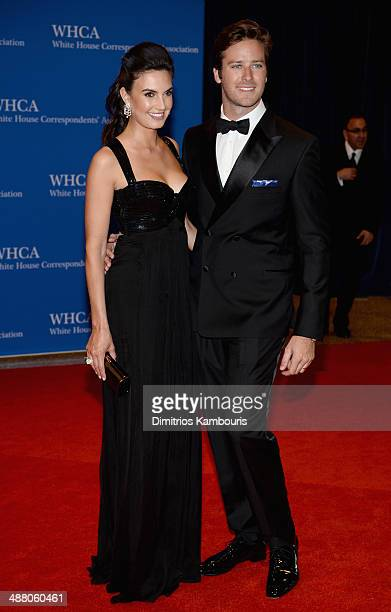 Elizabeth Chambers and Armie Hammer attend the 100th Annual White House Correspondents' Association Dinner at the Washington Hilton on May 3 2014 in...