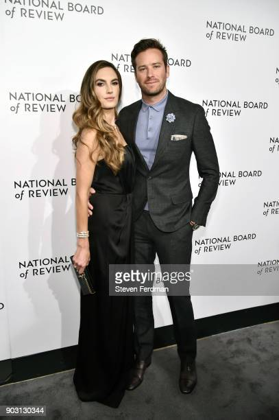 Elizabeth Chambers and Armie Hammer attend the 2018 The National Board Of Review Annual Awards Gala at Cipriani 42nd Street on January 9 2018 in New...