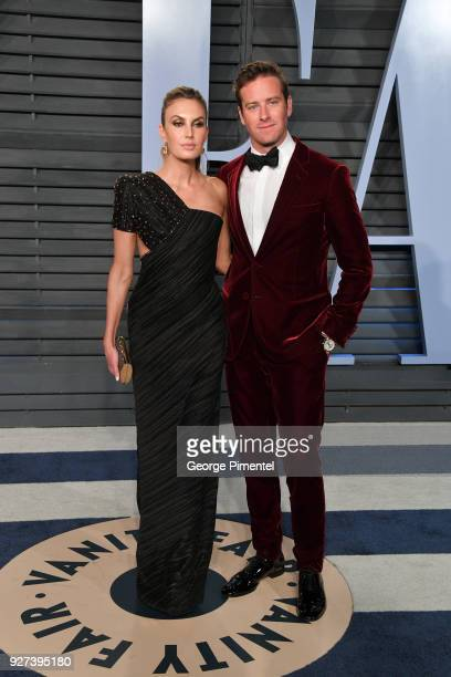 Elizabeth Chambers and Armie Hammer attend the 2018 Vanity Fair Oscar Party hosted by Radhika Jones at Wallis Annenberg Center for the Performing...