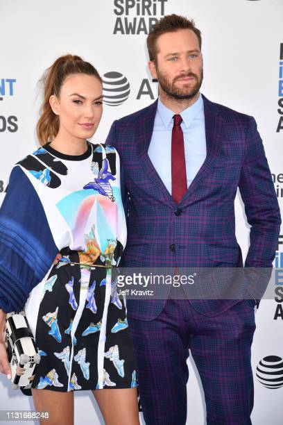 Elizabeth Chambers and Armie Hammer attend the 2019 Film Independent Spirit Awards on February 23, 2019 in Santa Monica, California.