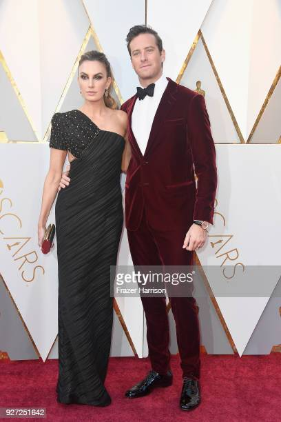 Elizabeth Chambers and Armie Hammer attend the 90th Annual Academy Awards at Hollywood Highland Center on March 4 2018 in Hollywood California
