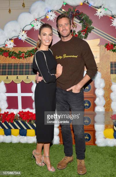 Elizabeth Chambers and Armie Hammer attend the Brooks Brothers and St Jude Children's Research Hospital Annual Holiday Celebration at the Beverly...