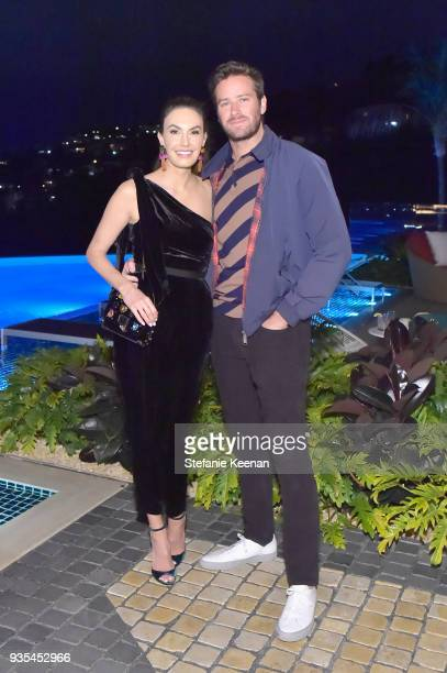 Elizabeth Chambers and Armie Hammer attend The Hollywood Reporter and Jimmy Choo Power Stylists Dinner on March 20 2018 in Los Angeles California