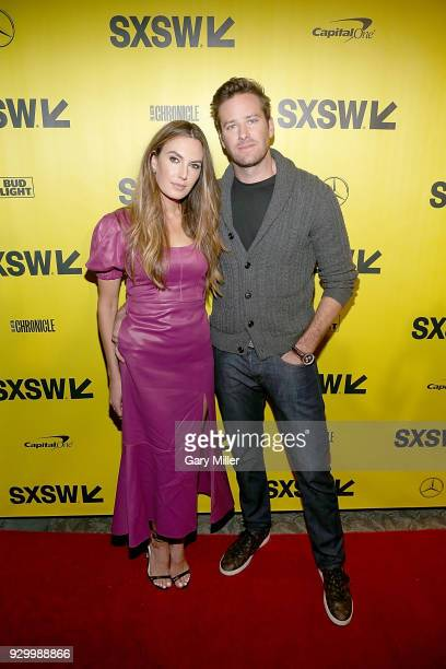 """Elizabeth Chambers and Armie Hammer attend the screening of """"Final Portrait"""" during the South By Southwest Conference and Festivals at the Paramount..."""