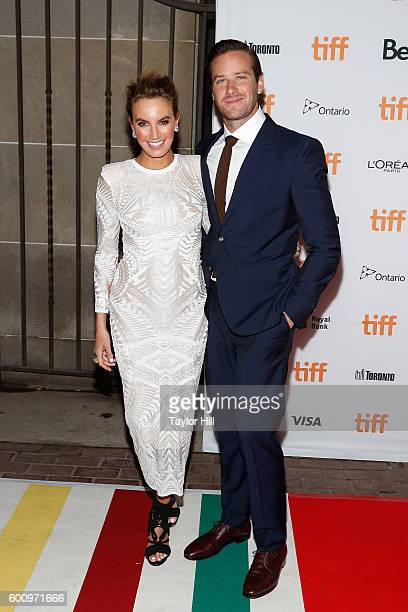 Elizabeth Chambers and Armie Hammer attend the world premiere of Free Fire during the 2016 Toronto International Film Festival at Ryerson Theatre on...