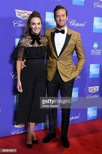 Elizabeth Chambers and Armie Hammer attends the 29th Annual Palm Springs International Film Festival Awards Gala at Palm Springs Convention Center on...