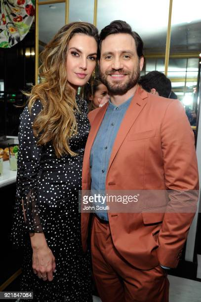 Elizabeth Chambers and Edgar Ramirez attend GQ and Oliver Peoples Celebrate Timothee Chalamet March Cover Dinner at Nomad Los Angeles on February 20...