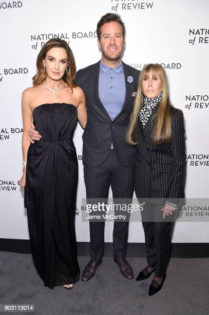 Elizabeth Chambers Armie Hammer and National Board of Review President Annie Schulhof attend The National Board Of Review Annual Awards Gala at...