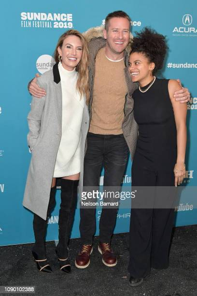 Elizabeth Chambers Armie Hammer and Zazie Beetz attend the Wounds Premiere during the 2019 Sundance Film Festival at Eccles Center Theatre on January...