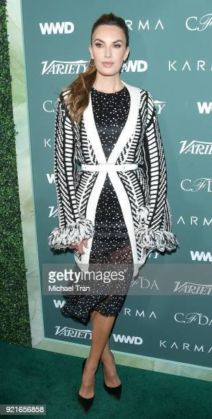 Elizabeth Chambers arrives to the Council of Fashion Designers of America luncheon held at Chateau Marmont on February 20 2018 in Los Angeles...