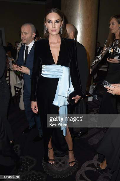 Elizabeth Chambers attends a cocktail reception during The 75th Annual Golden Globe Awards at The Beverly Hilton Hotel on January 7 2018 in Beverly...