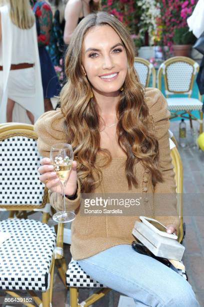Elizabeth Chambers attends CFDA/Vogue Fashion Fund Show and Tea at Chateau Marmont at Chateau Marmont on October 25 2017 in Los Angeles California