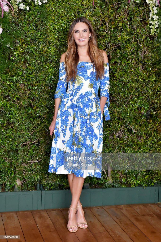 Elizabeth Chambers attends Claiborne Swanson Frank 'Mother and Child' Launch Event By Cle de Peau Beaute and Carolina Herrera at Hotel Bel Air on May 2, 2018 in Los Angeles, California.