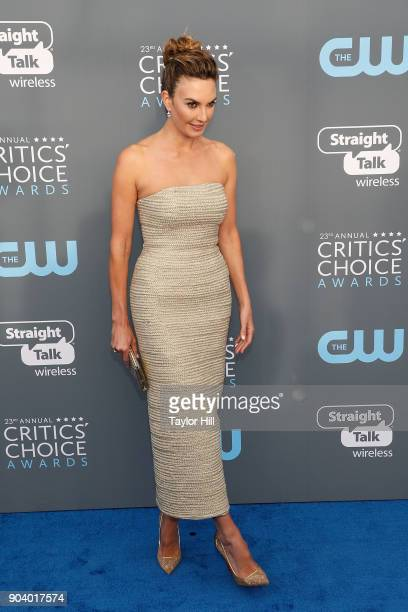 Elizabeth Chambers attends the 23rd Annual Critics' Choice Awards at Barker Hangar on January 11 2018 in Santa Monica California