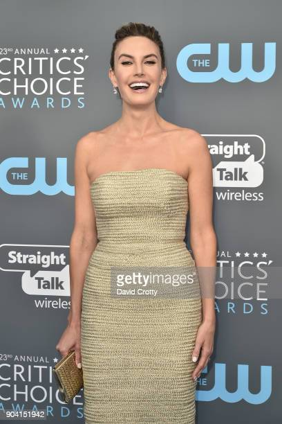 Elizabeth Chambers attends The 23rd Annual Critics' Choice Awards Arrivals at The Barker Hanger on January 11 2018 in Santa Monica California