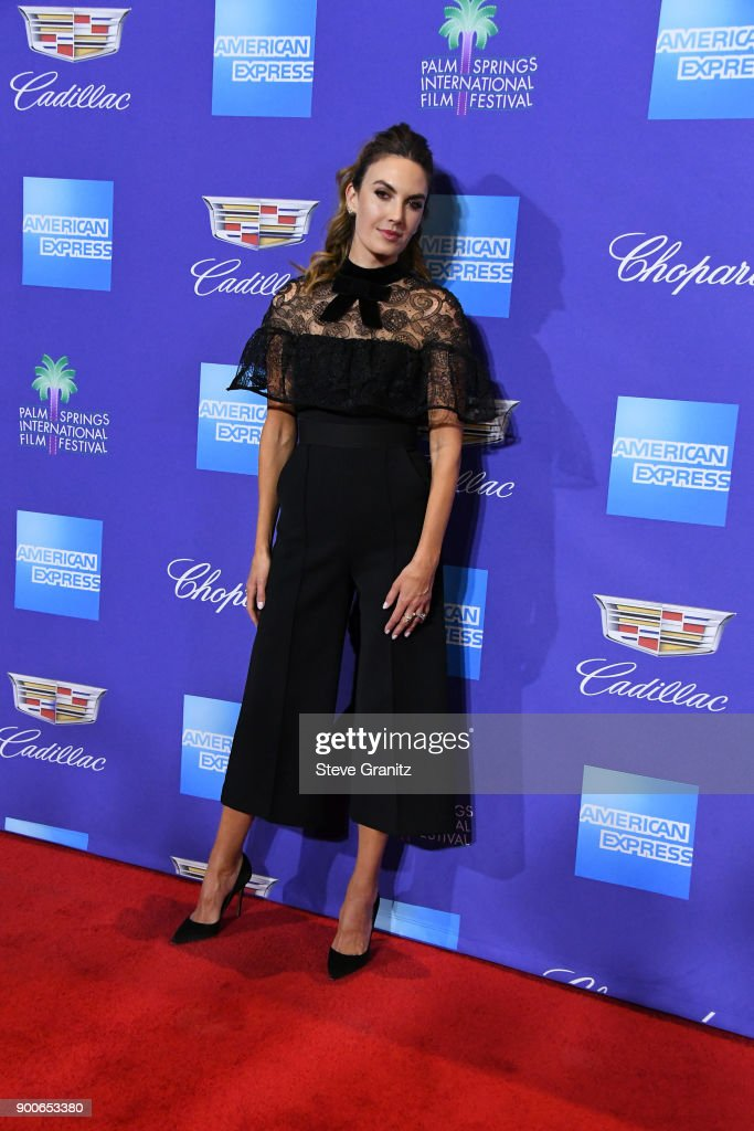 Elizabeth Chambers attends the 29th Annual Palm Springs International Film Festival Awards Gala at Palm Springs Convention Center on January 2, 2018 in Palm Springs, California.