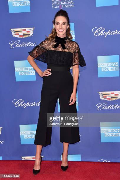 Elizabeth Chambers attends the 29th Annual Palm Springs International Film Festival Awards Gala at Palm Springs Convention Center on January 2 2018...